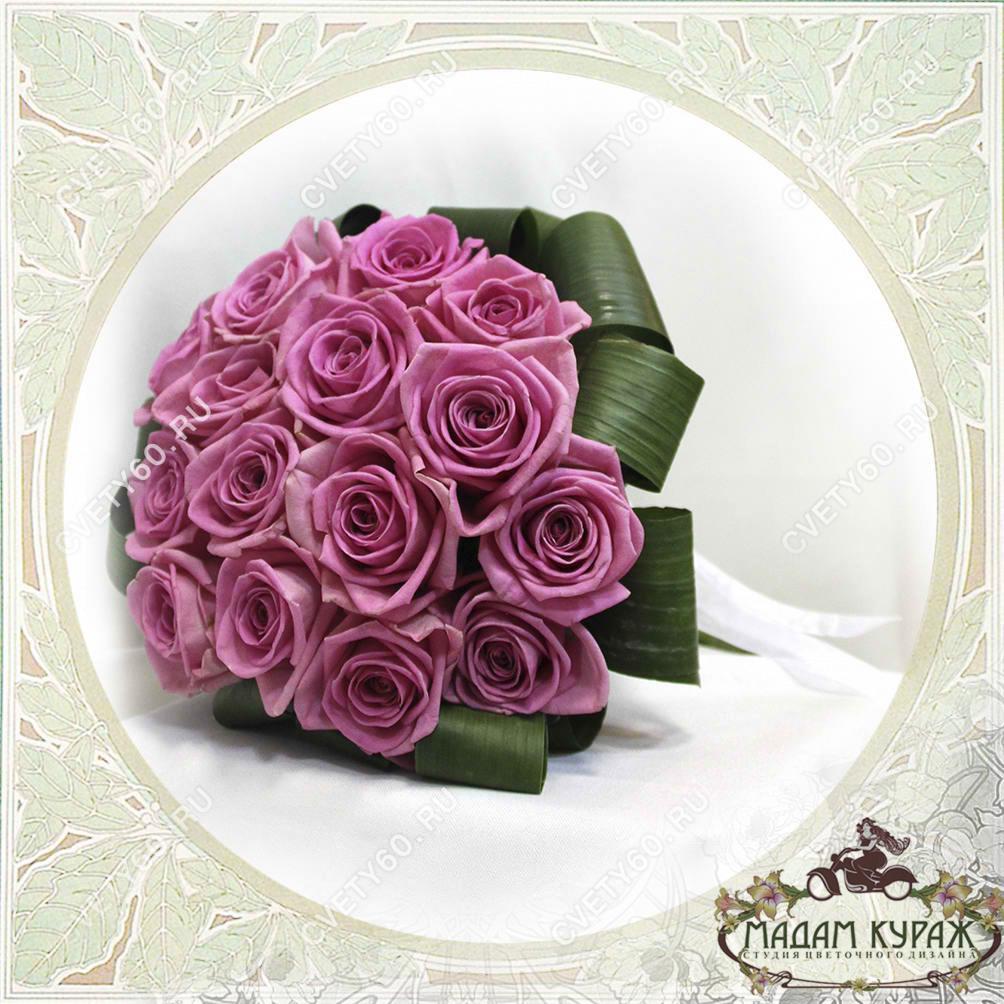 Букет невесты из роз в Пскове Открытка