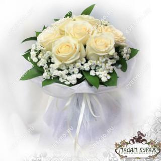Букет невесты из белой розы
