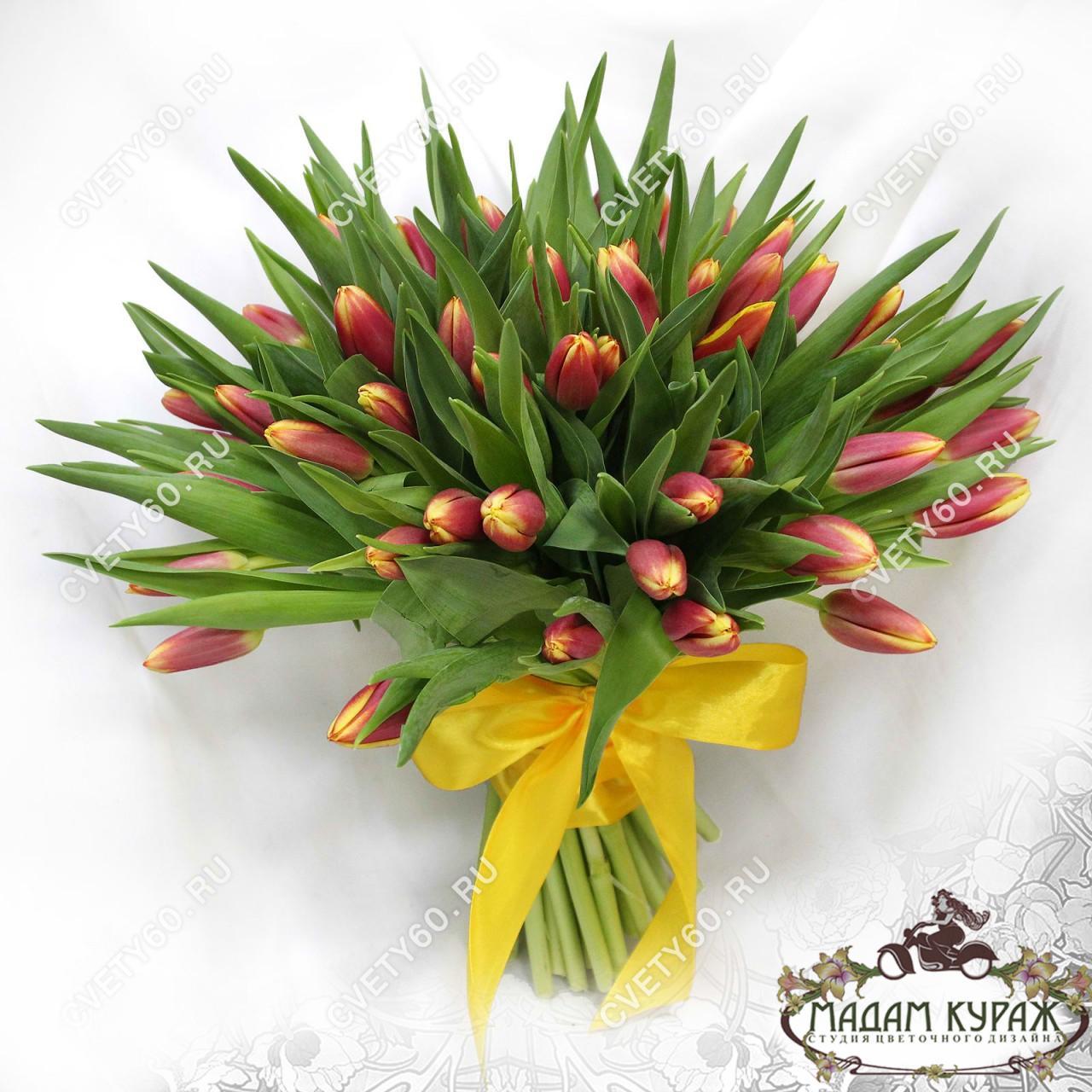 Букет из тюльпанов, Цветы в Пскове