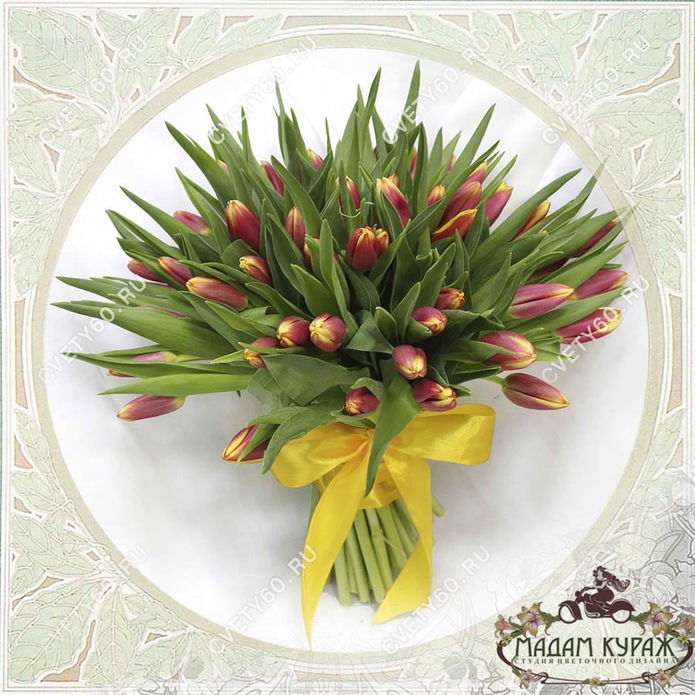Букет из тюльпанов, Цветы в Пскове Открытка