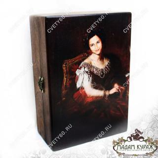 Деревянная шкатулка с вашим фото на заказ в Пскове