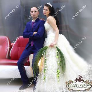 Креативный букет невесты в Пскове заказать в интернет магазине cvety60.ru
