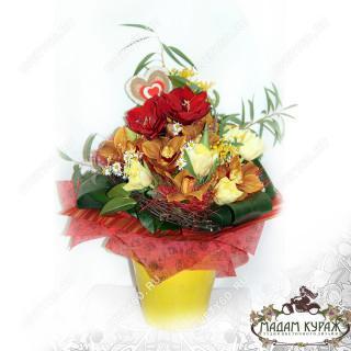 Цветы на День Влюбленных  с доставкойПсков