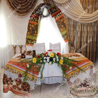 Свадебное оформление в стиле Хохлома в Пскове