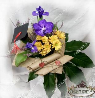 Букет на каркасе с орхидеей в Пскове в Пскове