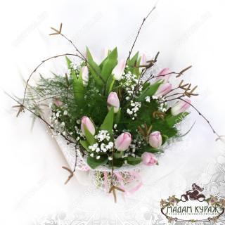Цветы в Пскове, букет из тюльпанов