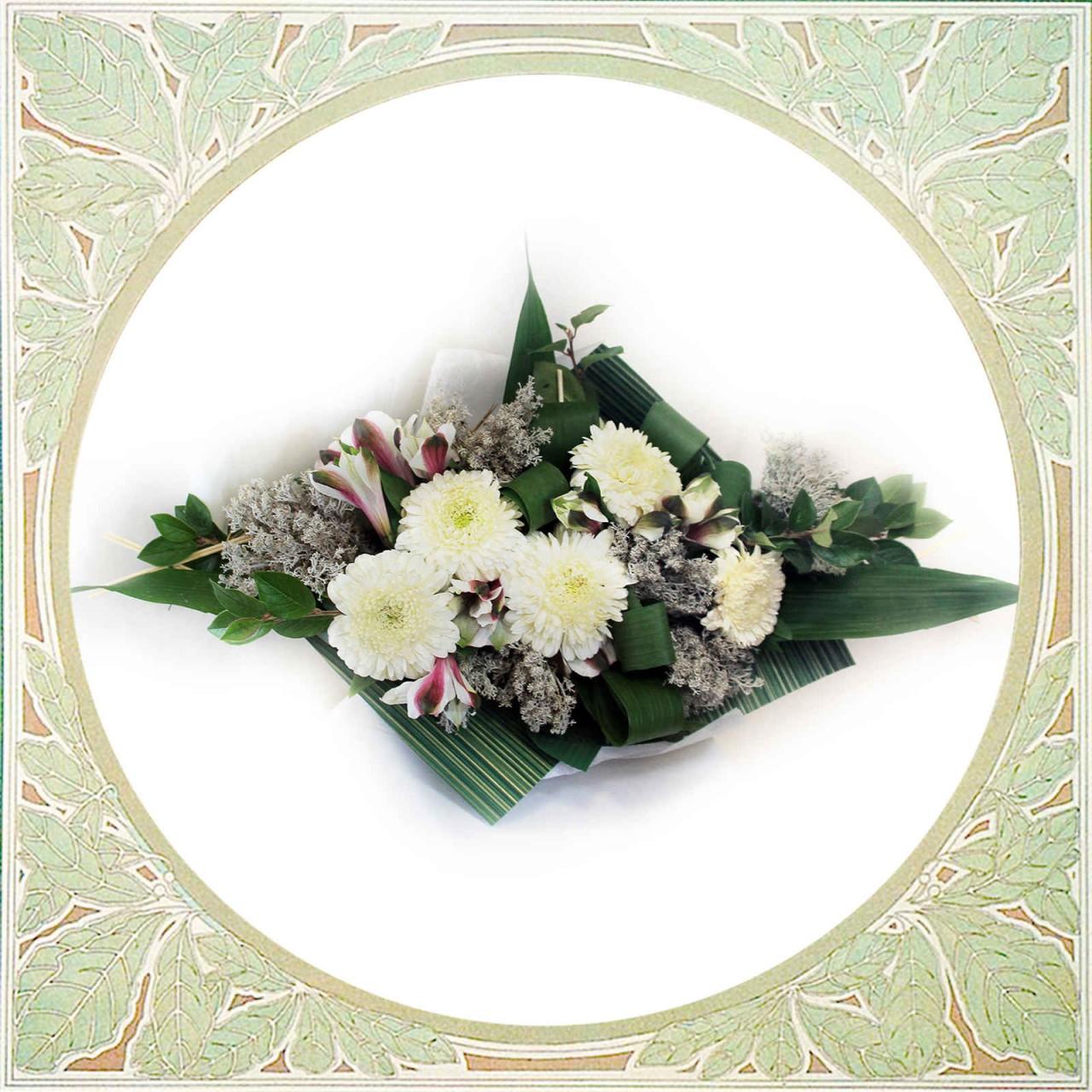 Букет с хризантемами в Пскове открытка