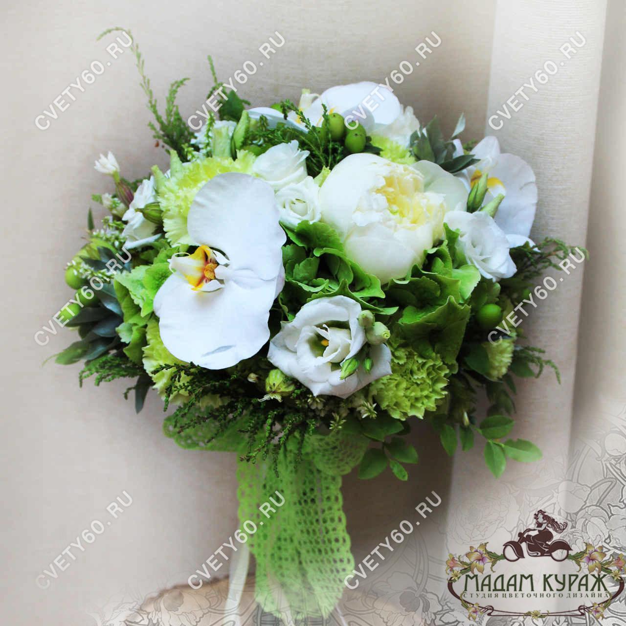 Нежный букет невесты в Пскове