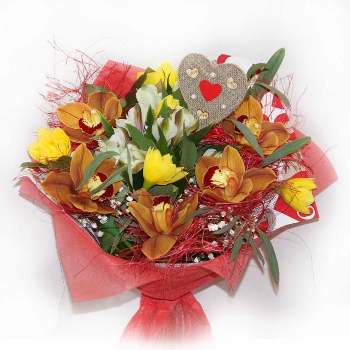Букет к Дню Влюбленных в Пскове