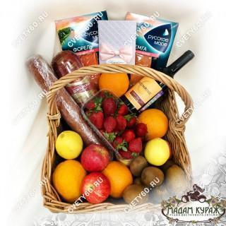 Индивидуальный заказ продуктовых корзин с доставкой и поздравлением.Псков