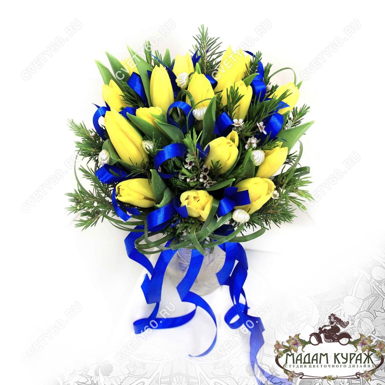 Букет из тюльпанов с доставкой в Пскове