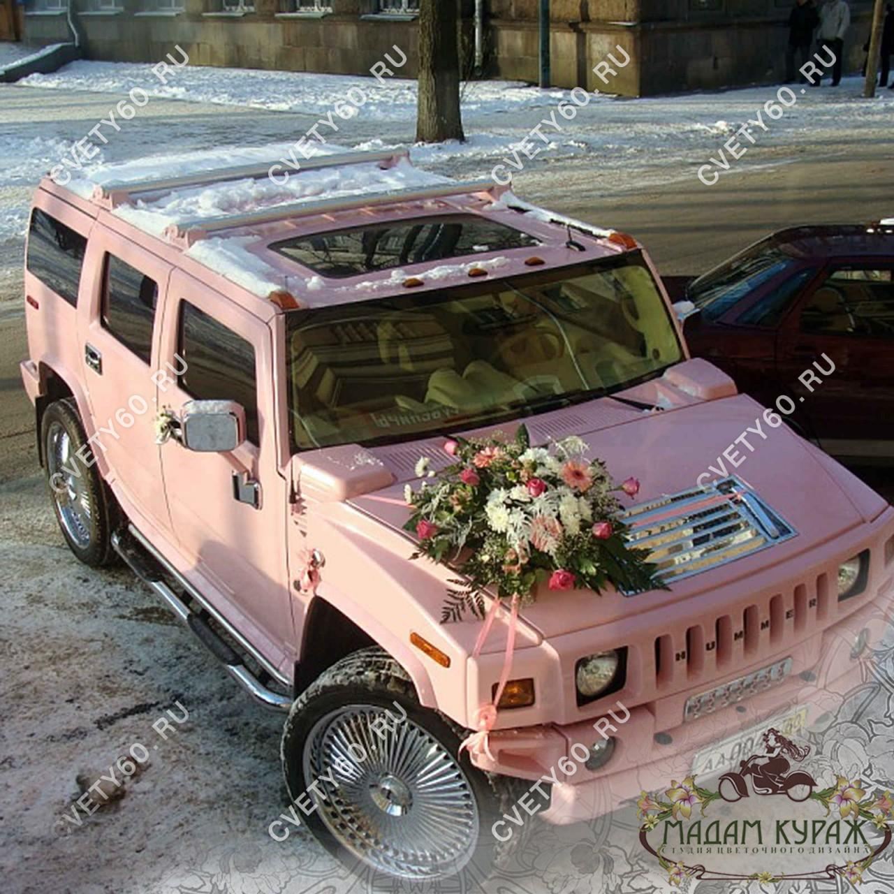 Украшение джипа к свадьбе в Пскове