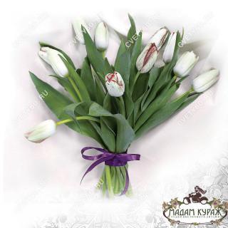 Белые тюльпаны заказать в интернет-магазинеПсков