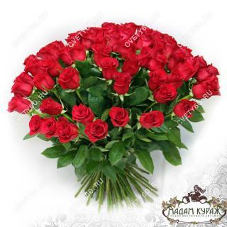 Большой букет из красных роз в ПсковеПсков