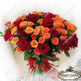 Красивый букет роз в ПсковеПсков