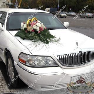 Украшение свадебной машины В Пскове