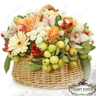 Цветочные корзины в Пскове