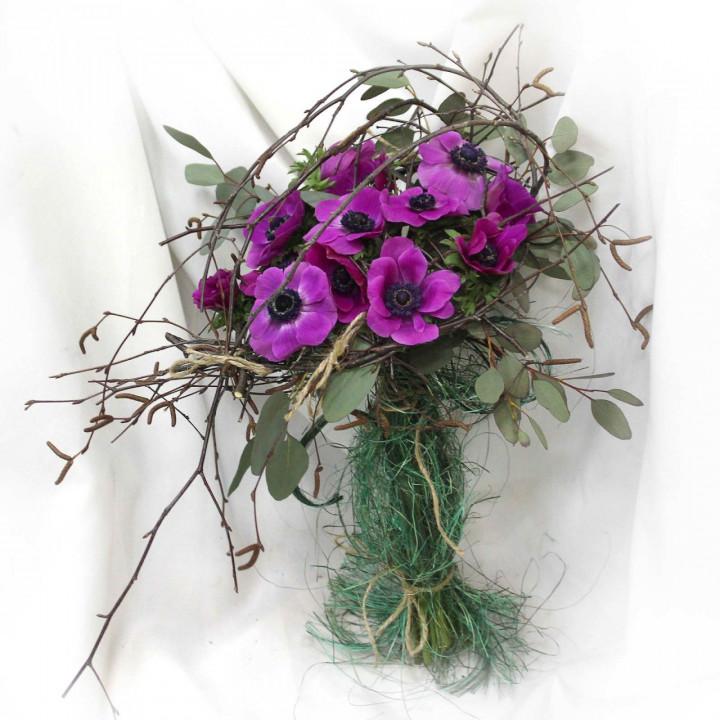 Оригинальный букет весенних цветов в Пскове