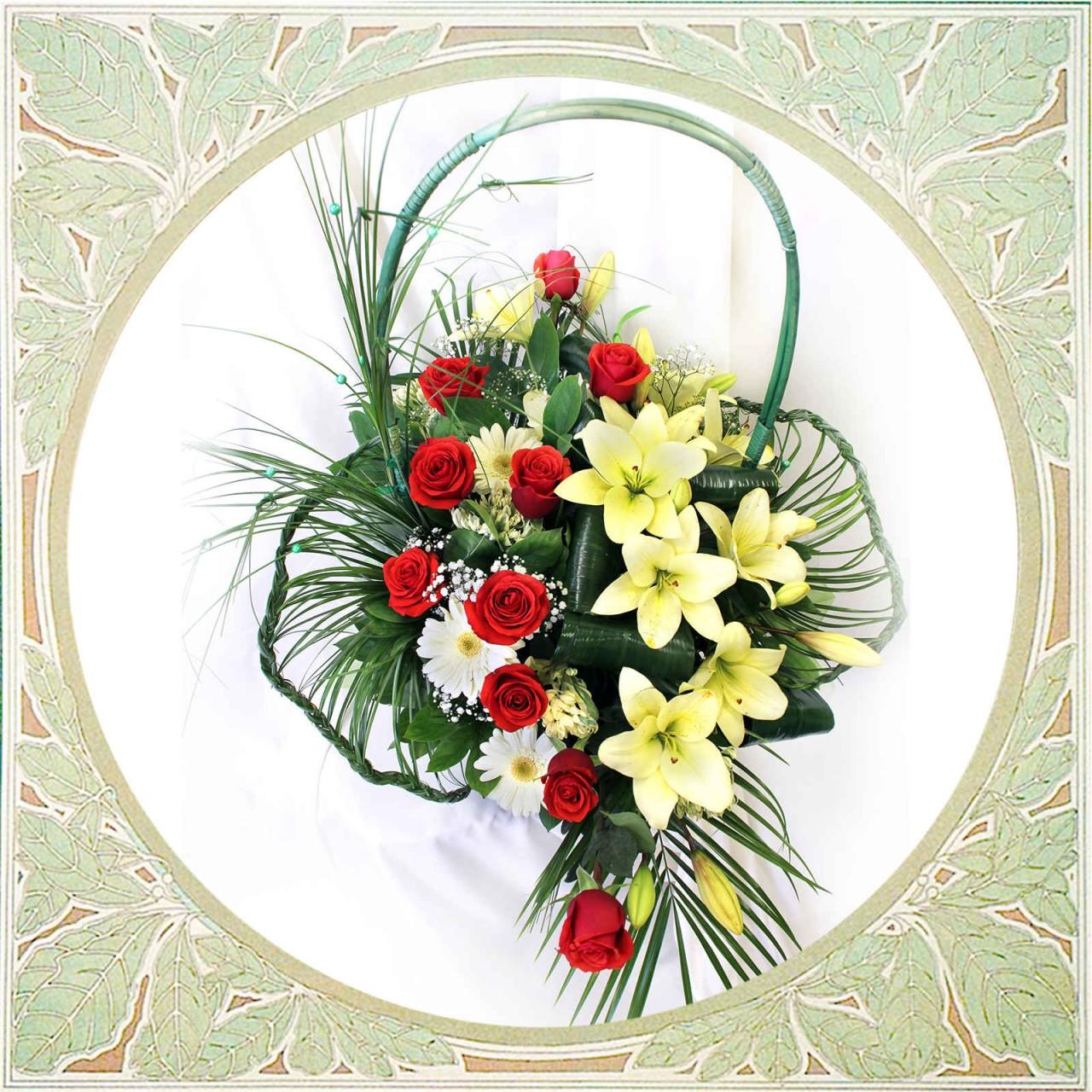 Корзина с розами в Пскове Открытка