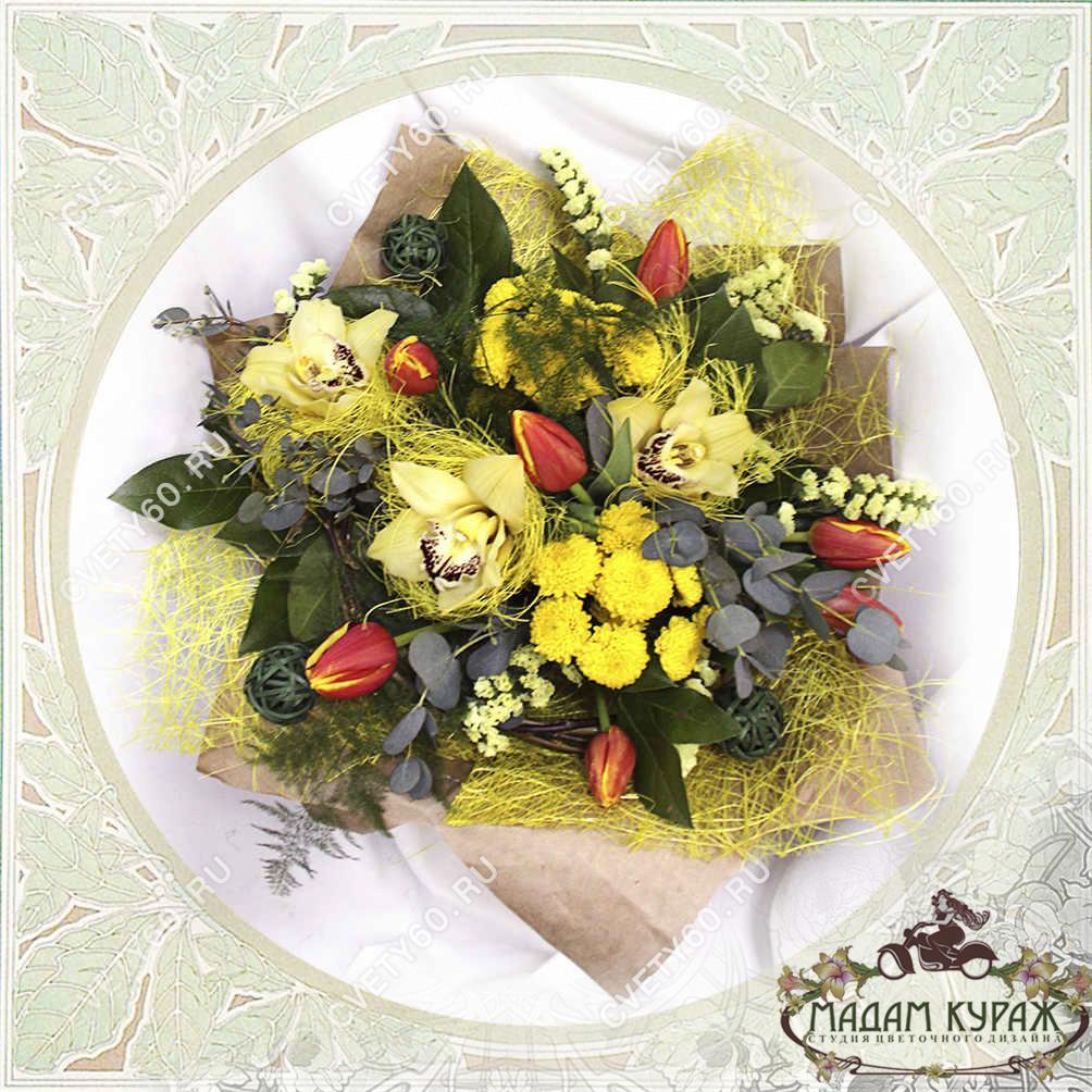 Букет из орхидей в Пскове. Открытка
