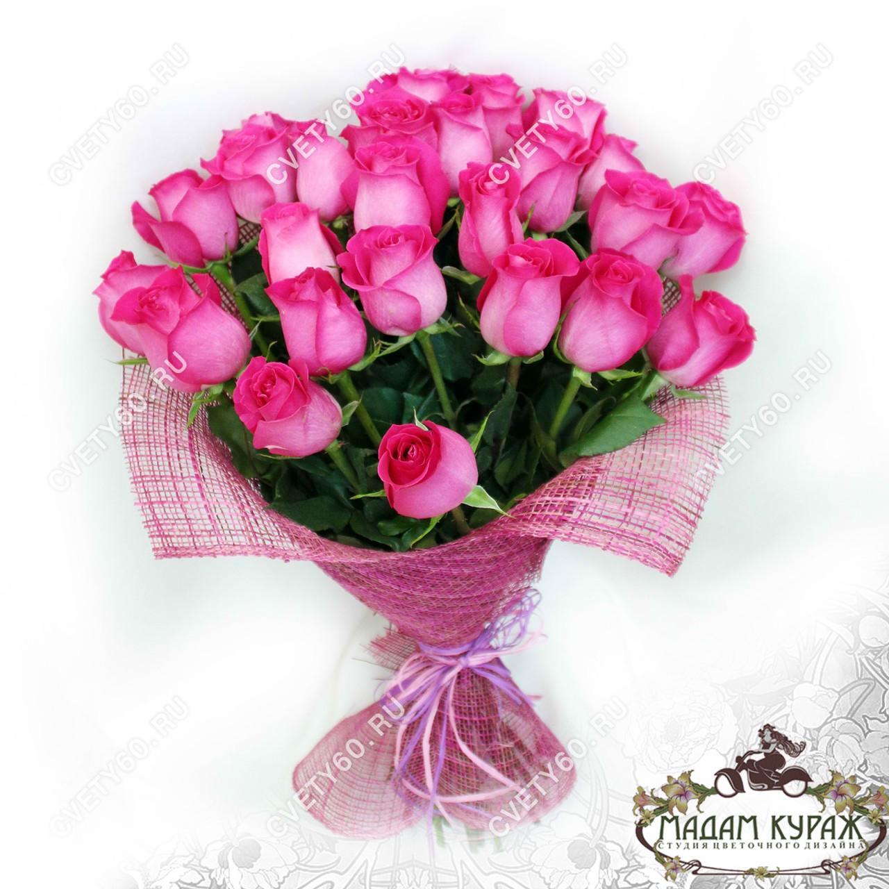 Розовые розы в Пскове