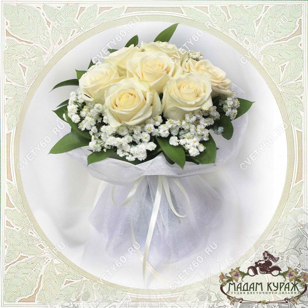 Букет невесты из белой розы Открытка