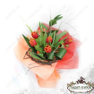 Букет тюльпанов в Пскове