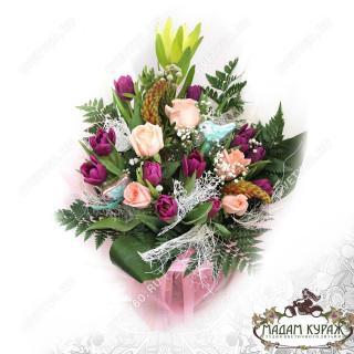 Букет из роз и тюльпанов в Пскове
