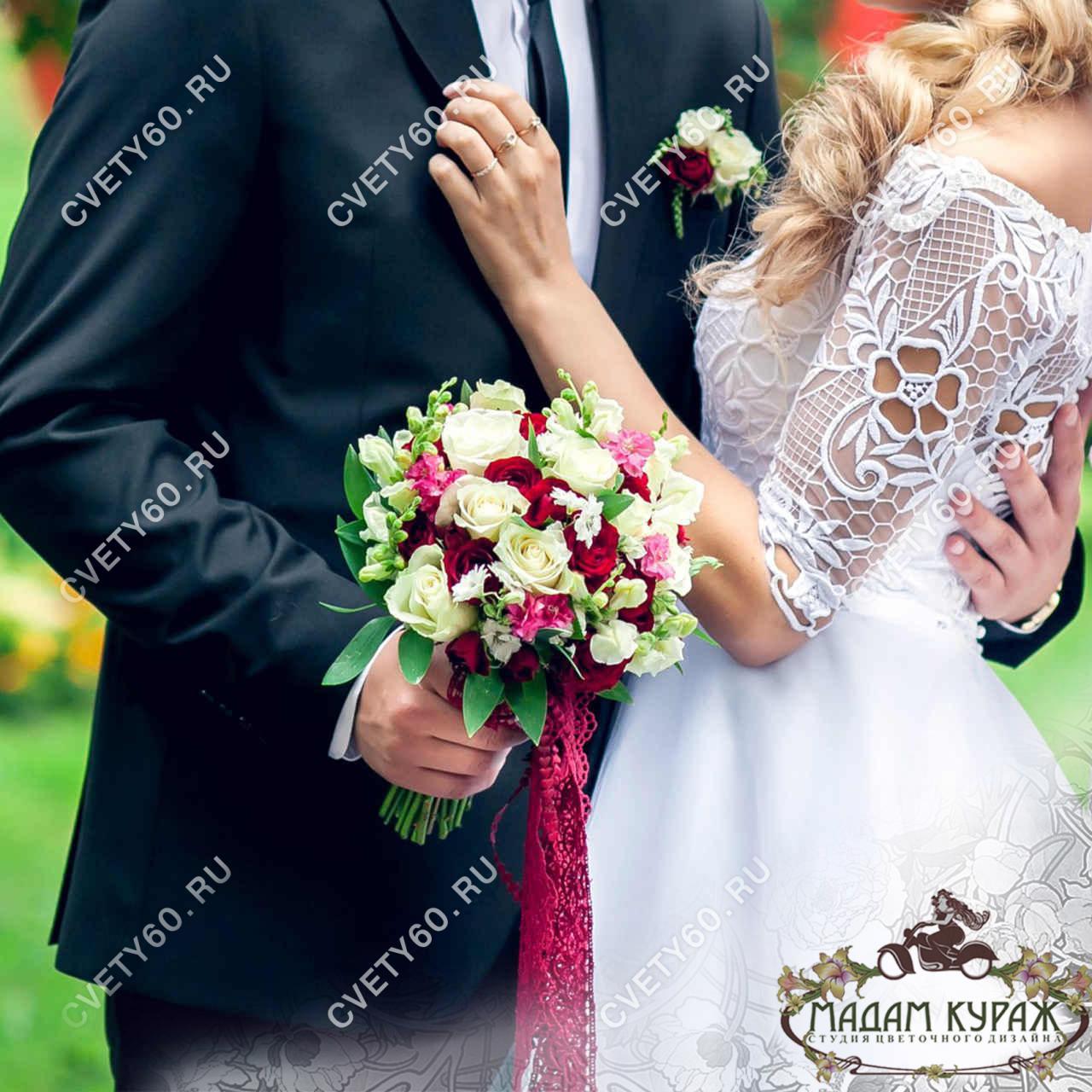 Свадебный букет заказать в интернет-магазине cvety60.ru