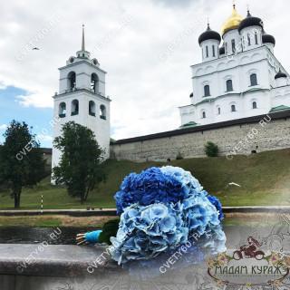 Букет гортензий в Пскове заказ в интернет магазине cvety60.ru