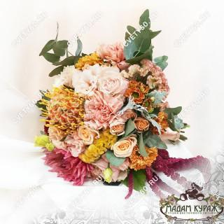 Свадебный букет в Пскове из необычных цветовПсков
