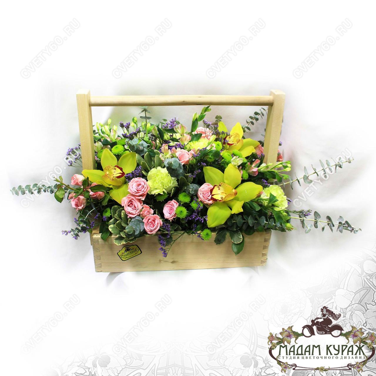 Цветочное поздравление в Пскове
