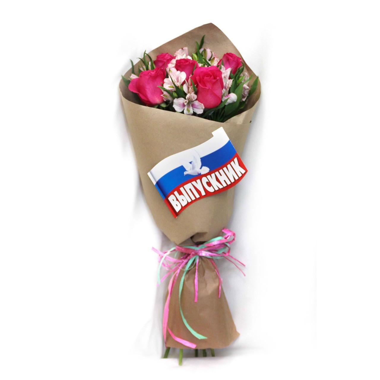 Букет из роз и альстромерий в Пскове