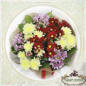 Букет из хризантем в Пскове Открытка