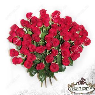 Большой букет красных роз заказать в интернет-магазине cvety60.ru