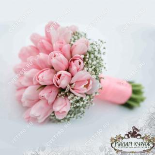 Букет невесты из тюльпанов в Пскове