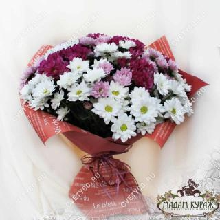 Букет из хризантем заказать в интернет-магазине cvety60.ruПсков