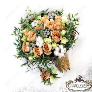 Свадебный букет в трендах сезона в Пскове заказать в интернет магазине cvety60.ru