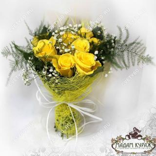 Букет из желтых роз в Пскове с доставкойПсков
