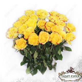 25 желтых роз недорого купить в Пскове