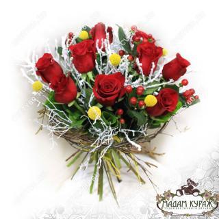 Розы на Новый Год в Пскове в интернет-иагазине cvety60.ru