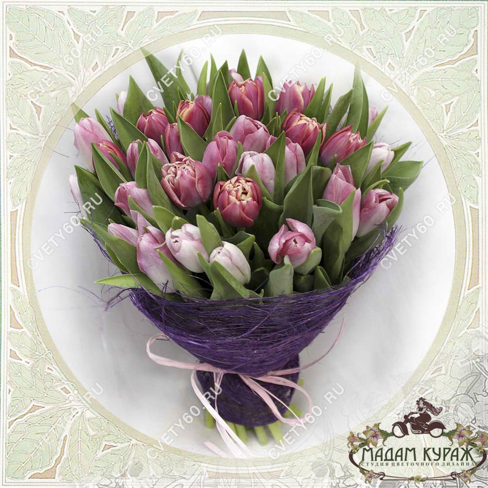 Букет из тюльпанов в Пскове Открытка