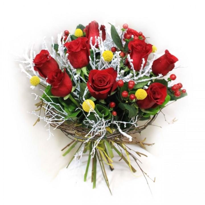 Розы на Новый Год в Пскове
