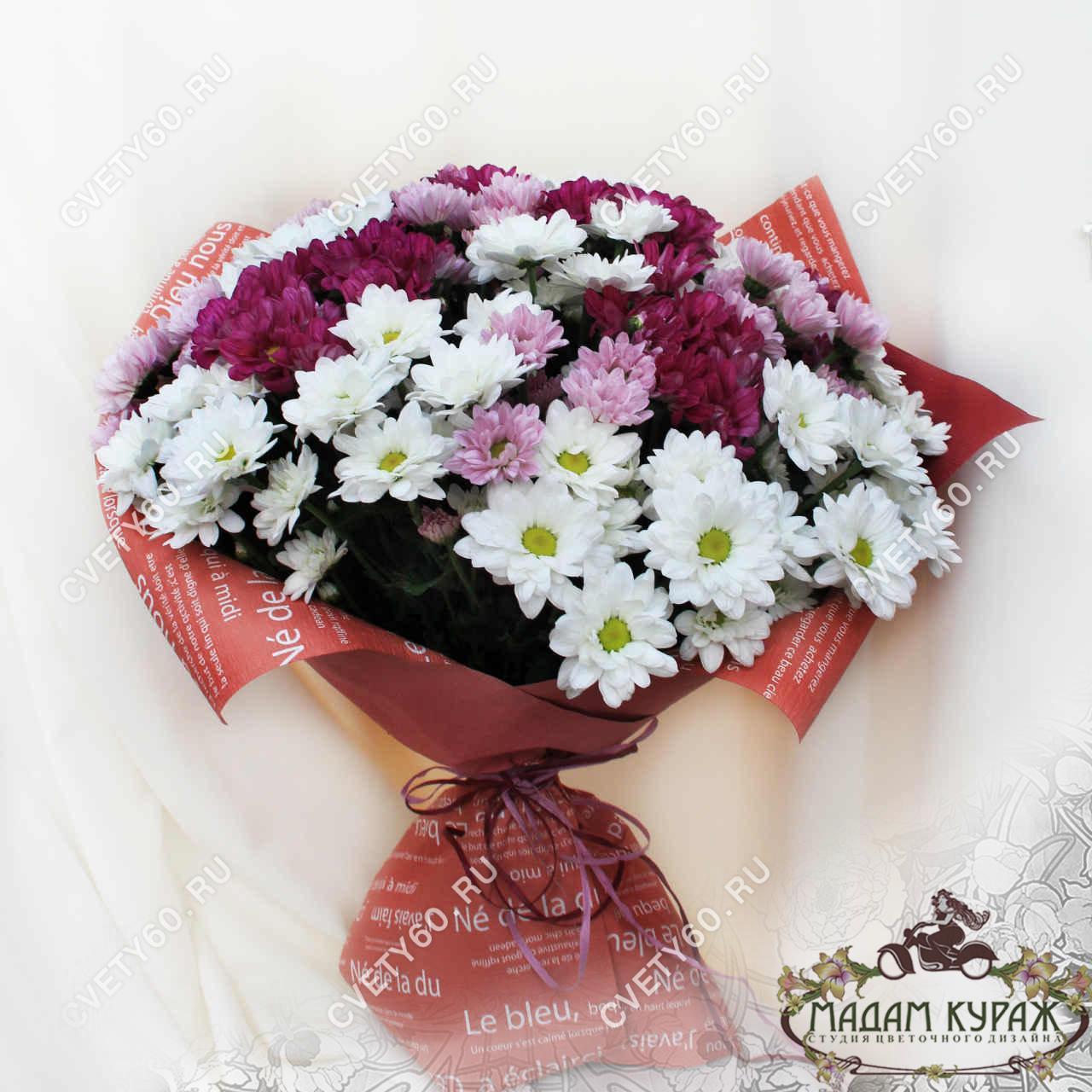 Букет из хризантем заказать в интернет-магазине cvety60.ru