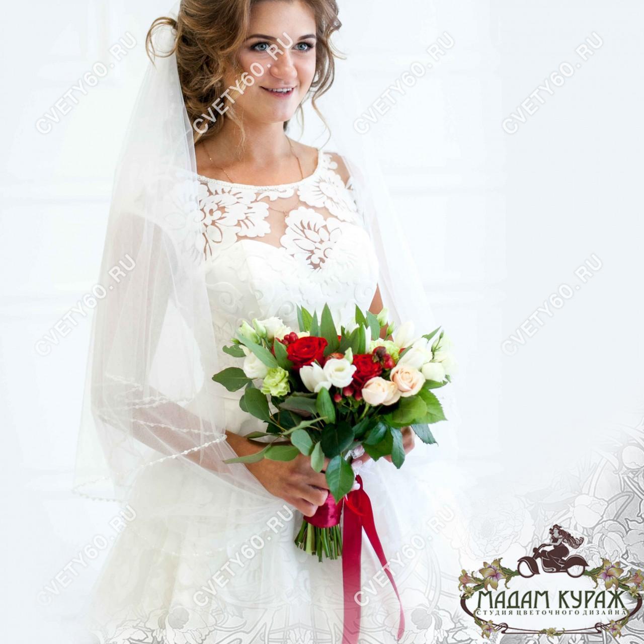 Свадебные букеты в Пскове заказать в интернет магазине cvety60.ru