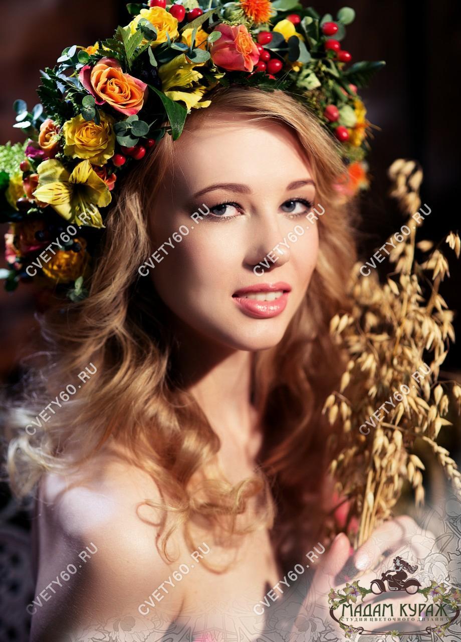 Украшения из цветов для невесты