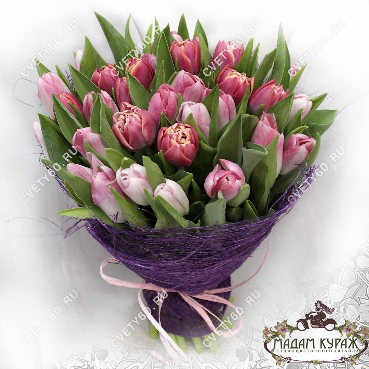 Букет из тюльпанов в Пскове