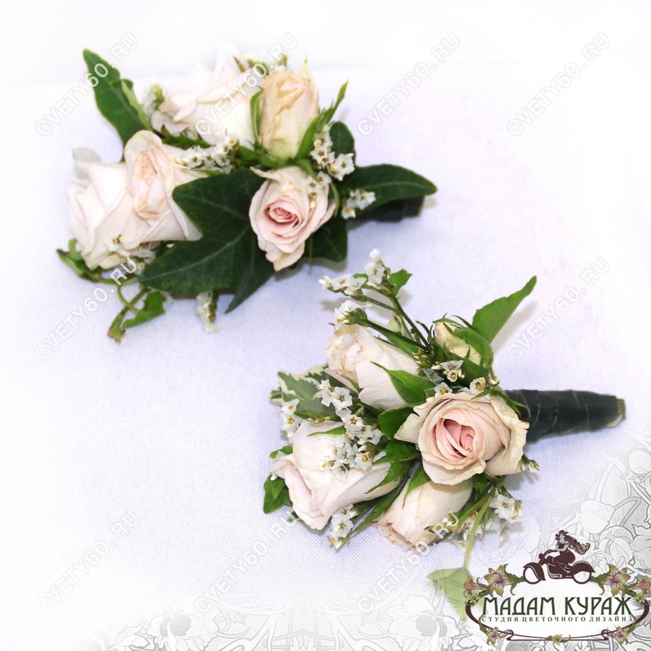 Свадебное украшение невесте и жениху в Пскове