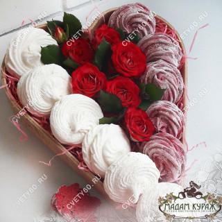 Авторские зефиры с цветами - красивый и вкусный подарок.Псков