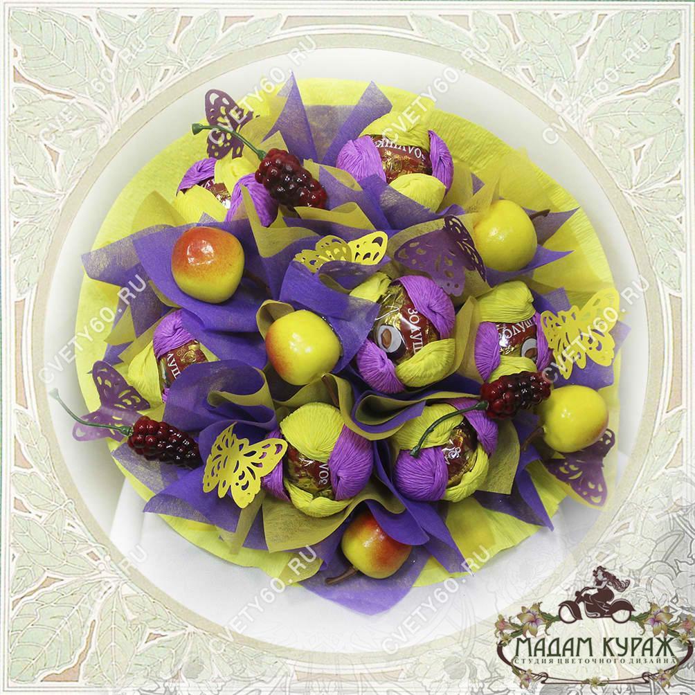 Букет из конфет в Пскове Открытка